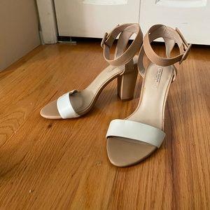 Zara chunky ankle strap heels